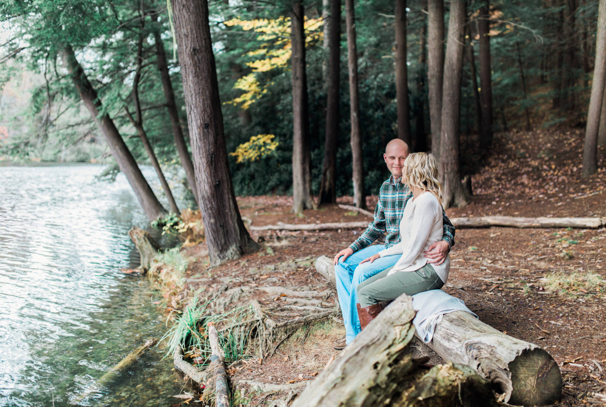 State College Harrisburg PA wedding photographer engagement woods campfire (18).jpg