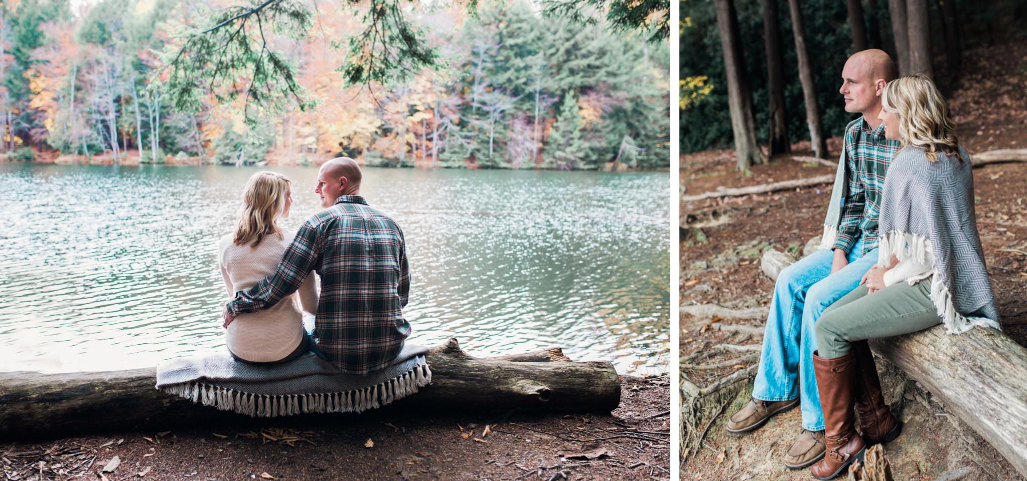 State College Harrisburg PA wedding photographer engagement woods campfire (21).jpg
