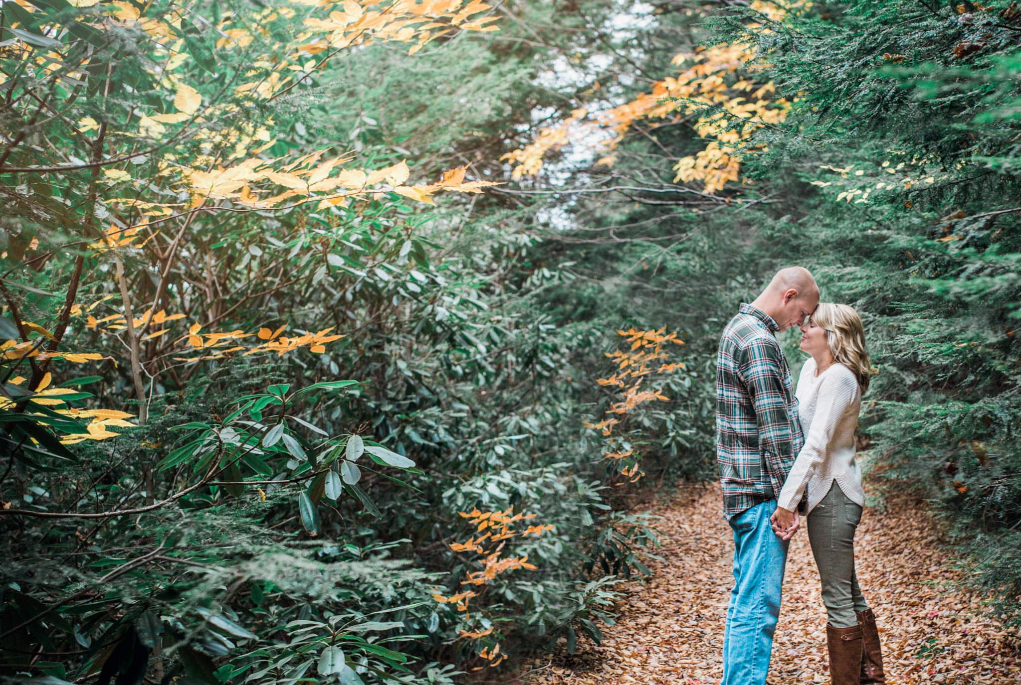 State College Harrisburg PA wedding photographer engagement woods campfire (40).jpg