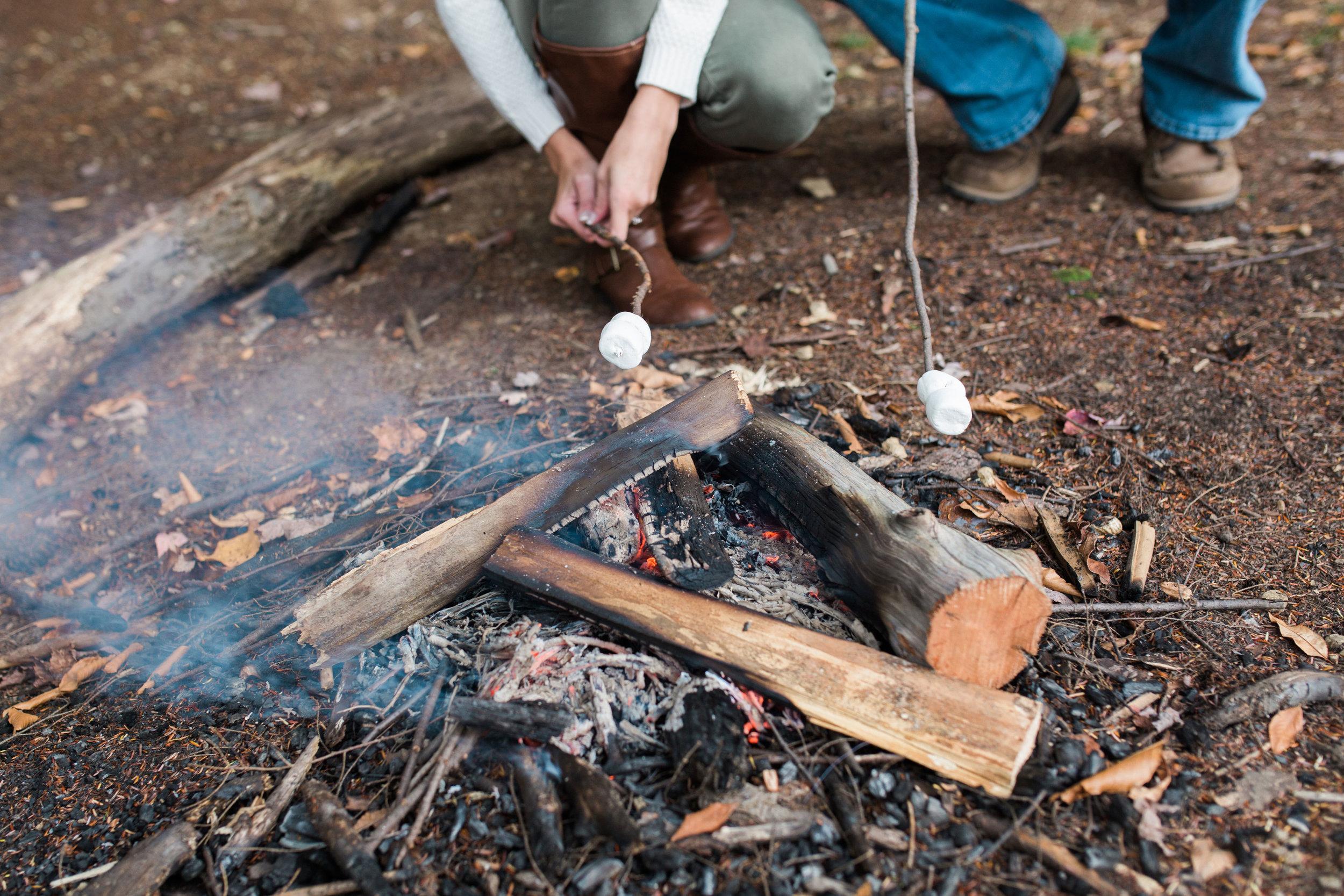 State College Harrisburg PA wedding photographer engagement woods campfire (36).jpg