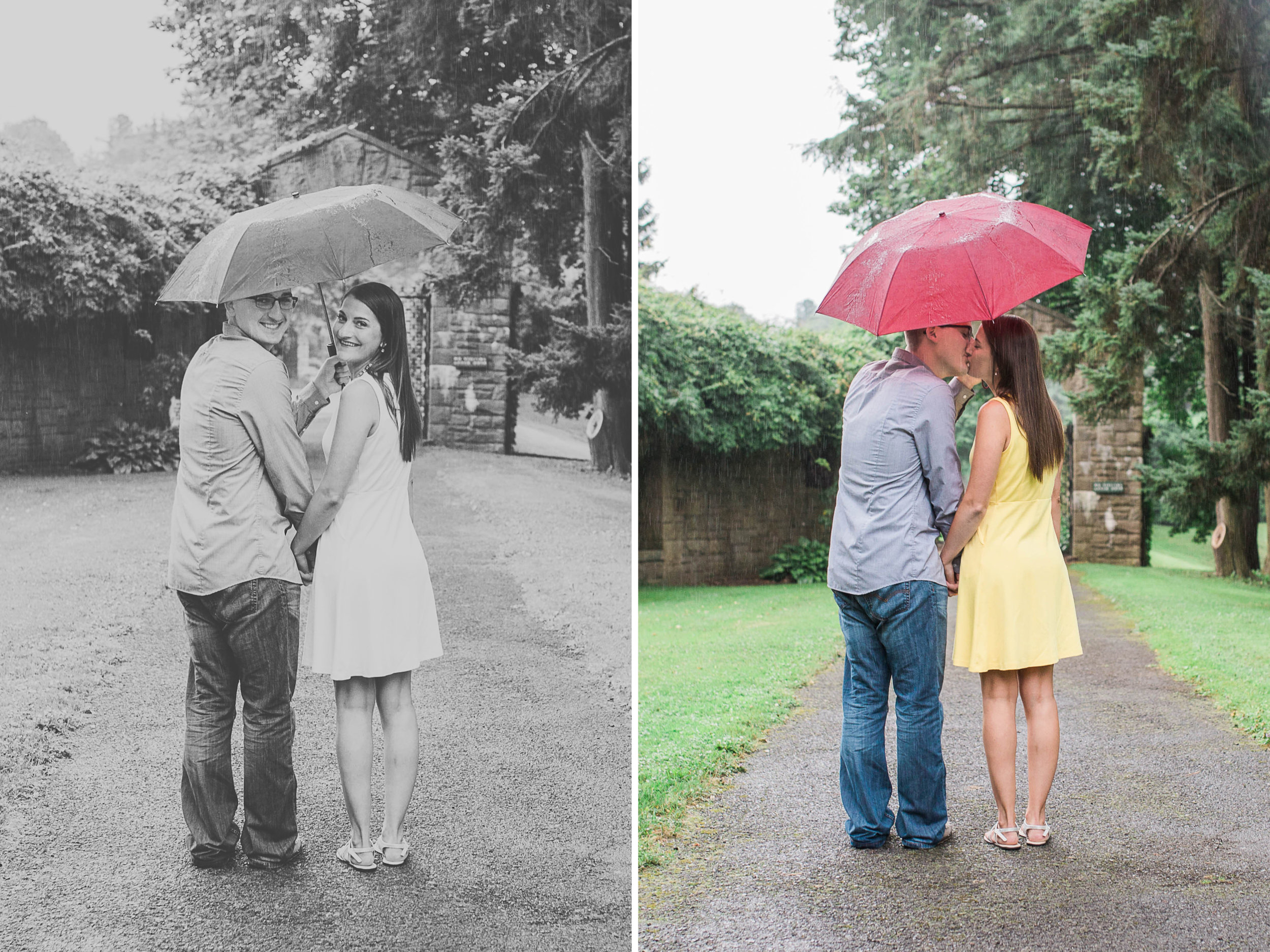 Johnstown Pittsburgh PA engagement session romantic rain couple portraits (17).jpg