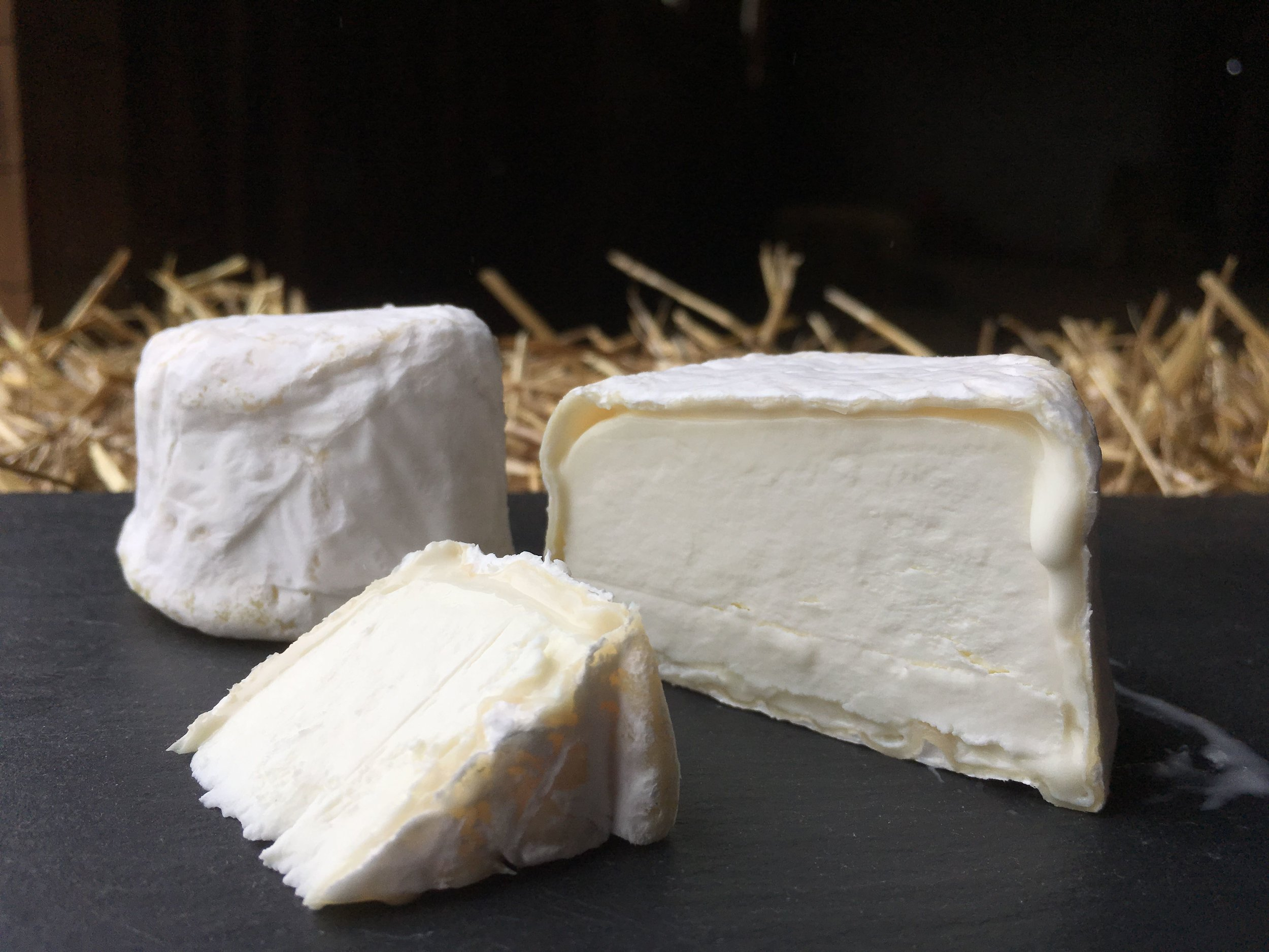 Catoctin , our original bloomy rind cheese. Firm and mild when young, aging to creamy and funky over 6-8 weeks.  Available April-January