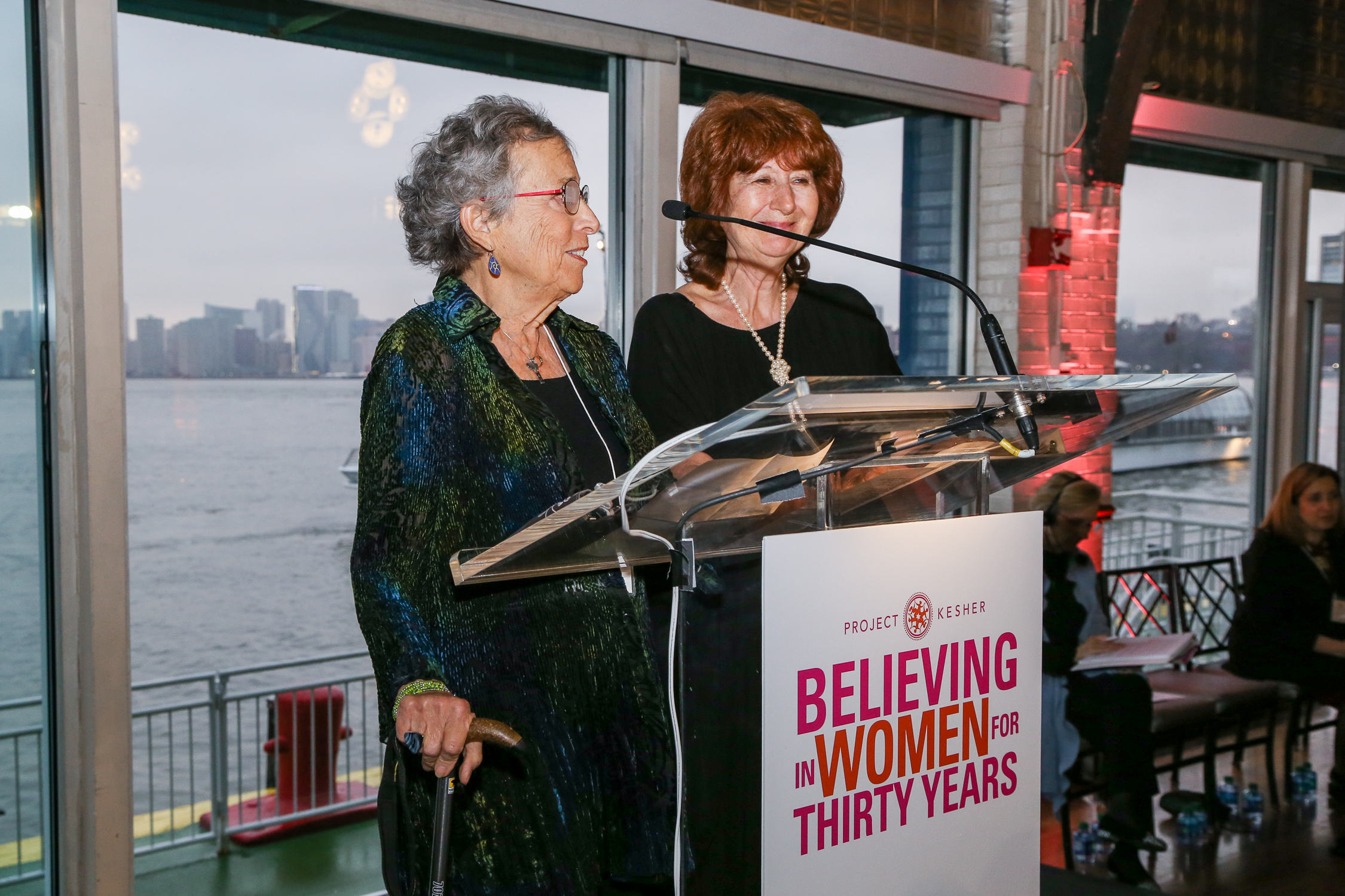 Pictured, Left to Right: Sallie Gratch and Svetlana Yakimenko, at the 30th Anniversary of Believing in Women, 2019.