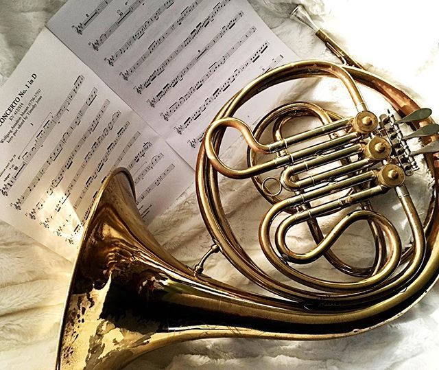 Because I am a ridiculous person and can't help myself, I have agreed to play #frenchhorn in the Local Christmas Cantata. I have not played since high school so we'll see what happens 😅. I had to borrow a horn from the local secondary school, which they very kindly leant me. However, having seen the music, I will need to find myself a double horn. Also, I will need to practice, hah hah. #musicians #musiciansofinstagram #brassinstruments #music #sheetmusic #saynotoconductors