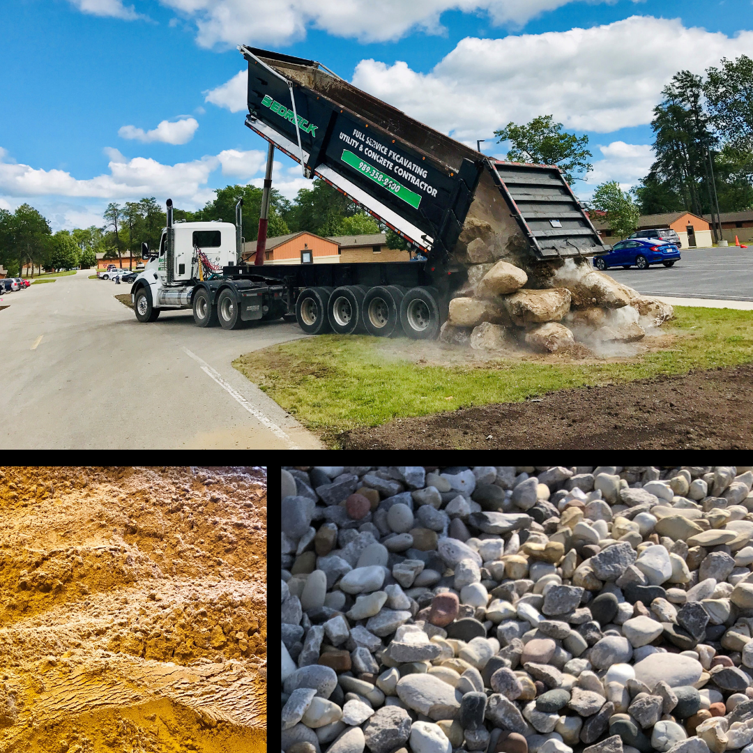 Rely on us for supplying or delivering these materials to you - • Sand• Gravel• Topsoil• Decorative stone (many different style options available)• Limestone• And more!You can swing by and pick up everything you need or you can take advantage of our convenient delivery services ranging from a convenient 3-yard truck to a 45-yard gravel train.