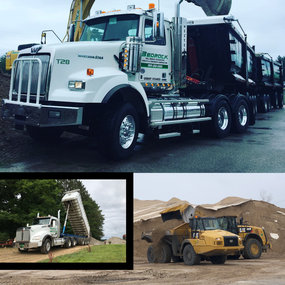 You name it, we haul it! - We're the team that can haul all of your materials! Trust our reliable fleet:Low boyGravel trainsTri-axlesRock tubs3-4 yard dump truck5-6 yard dump truck12-15 yard dump truck25 yard lead45 yard and/or 50 ton trainHire us today for heavy hauling and more!