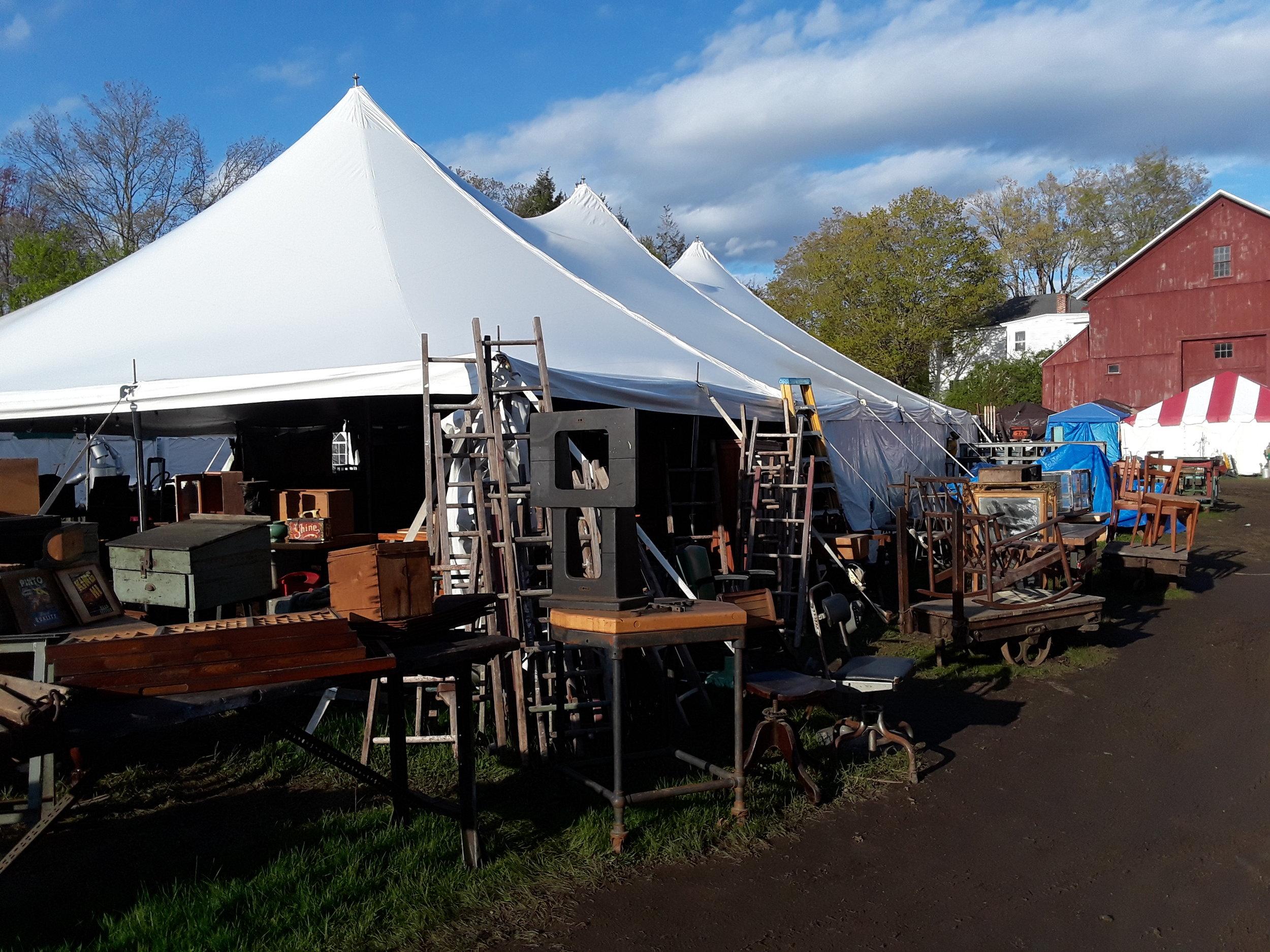 just one larger dealer tent
