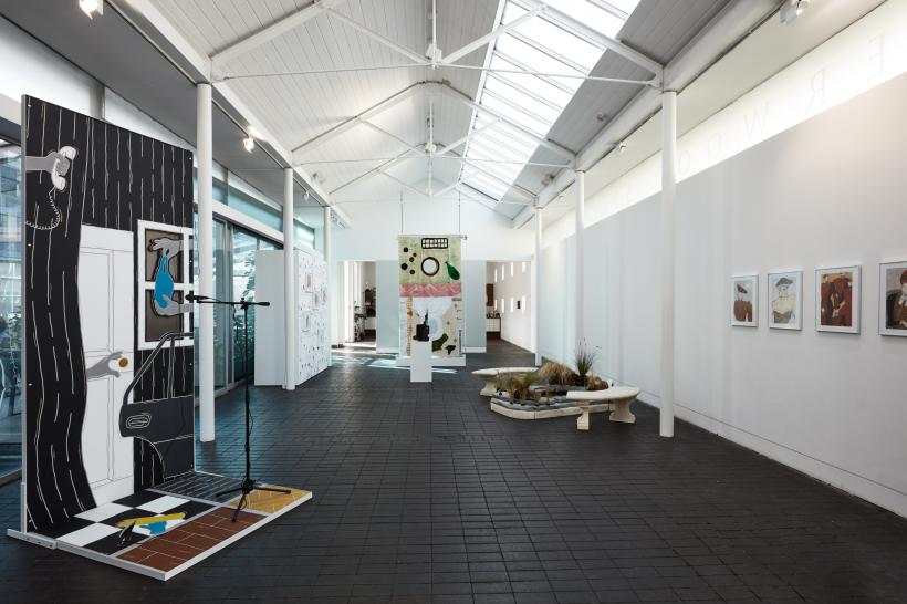 Title : Installation View of Survey at Jerwood Space, London, 3 October - 16 December 2018. Website :  http://www.jerwoodvisualarts.org/  Credit : Image courtesy of Jerwood Visual Arts