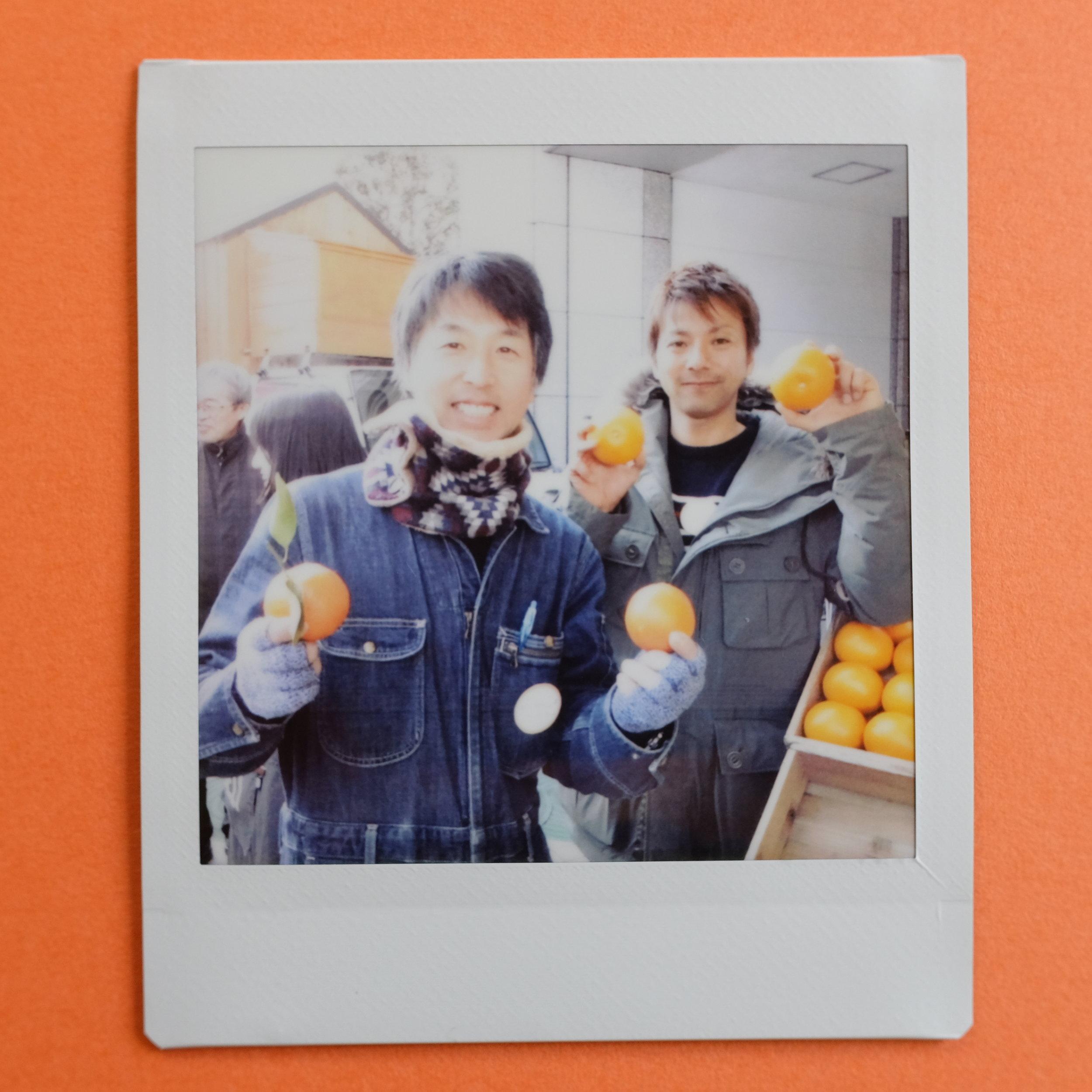 青山のファーマーズマーケットに、和歌山県田辺市の生産者さんたちが出店