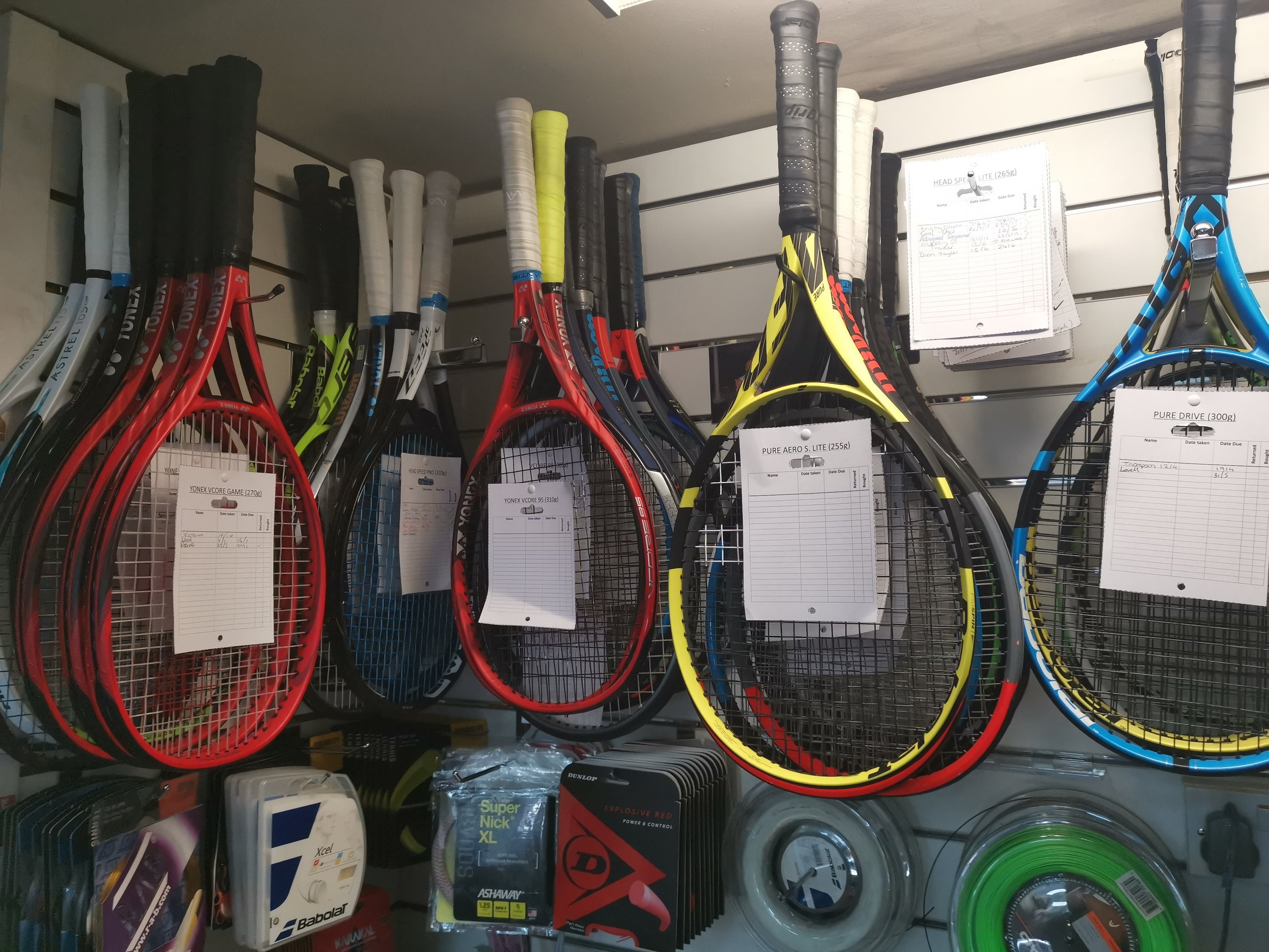 FIND OUT MORE ABOUT OUR    TENNIS RACKET DEMO SERVICE