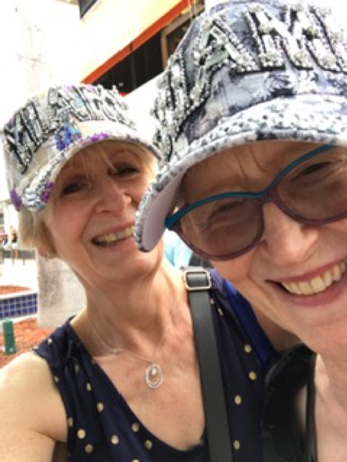 Having fun with my sister, Ceridwen, who accompanied me to Miami to share my moment in the spotlight: