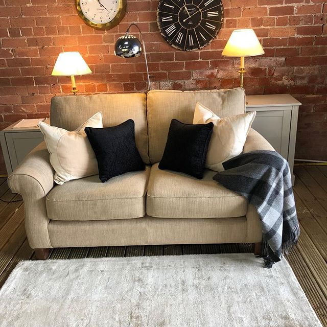 ⚡️GORGEOUS LIGHT BROWN TWO SEATER⚡️ 🙌🏻EX FURNITURE VILLAGE WITH WOODEN FEET🙌🏻 🌟🌟A STEAL AT £199 RRP £750🌟 ⏰🚀ORDER TODAY, DELIVERED TODAY⏰ 🎉SHOP OUR FACEBOOK / INSTAGRAM 🎉#yorkshire #cosychair #loveleeds #sofashop