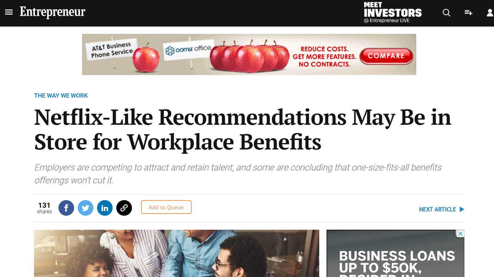 Netflix-Like Recommendations May Be in Store for Workplace Benefits