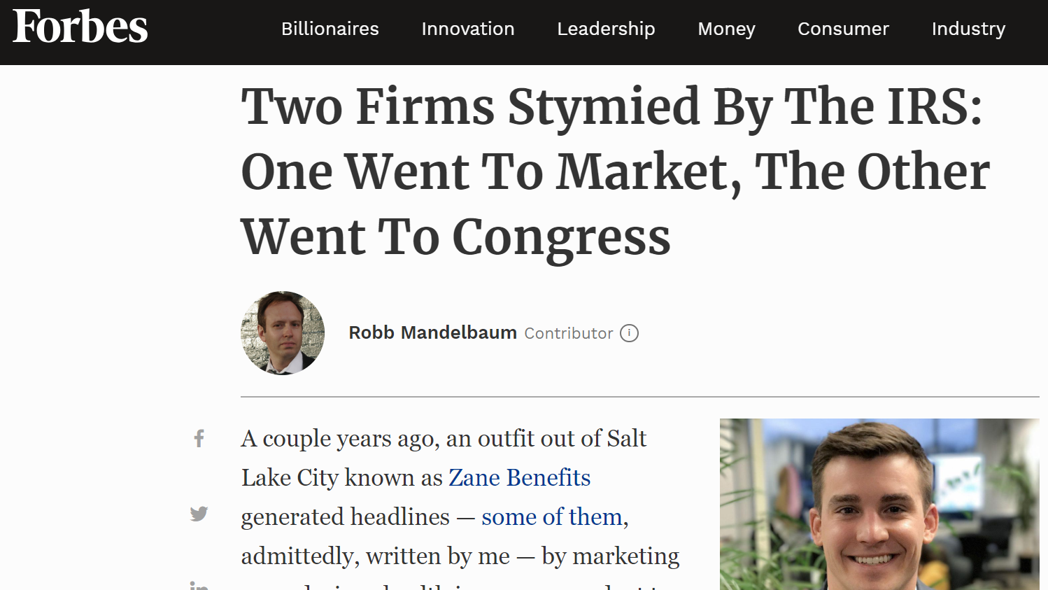 Two Firms Stymied By The IRS: One Went To Market, The Other Went To Congress