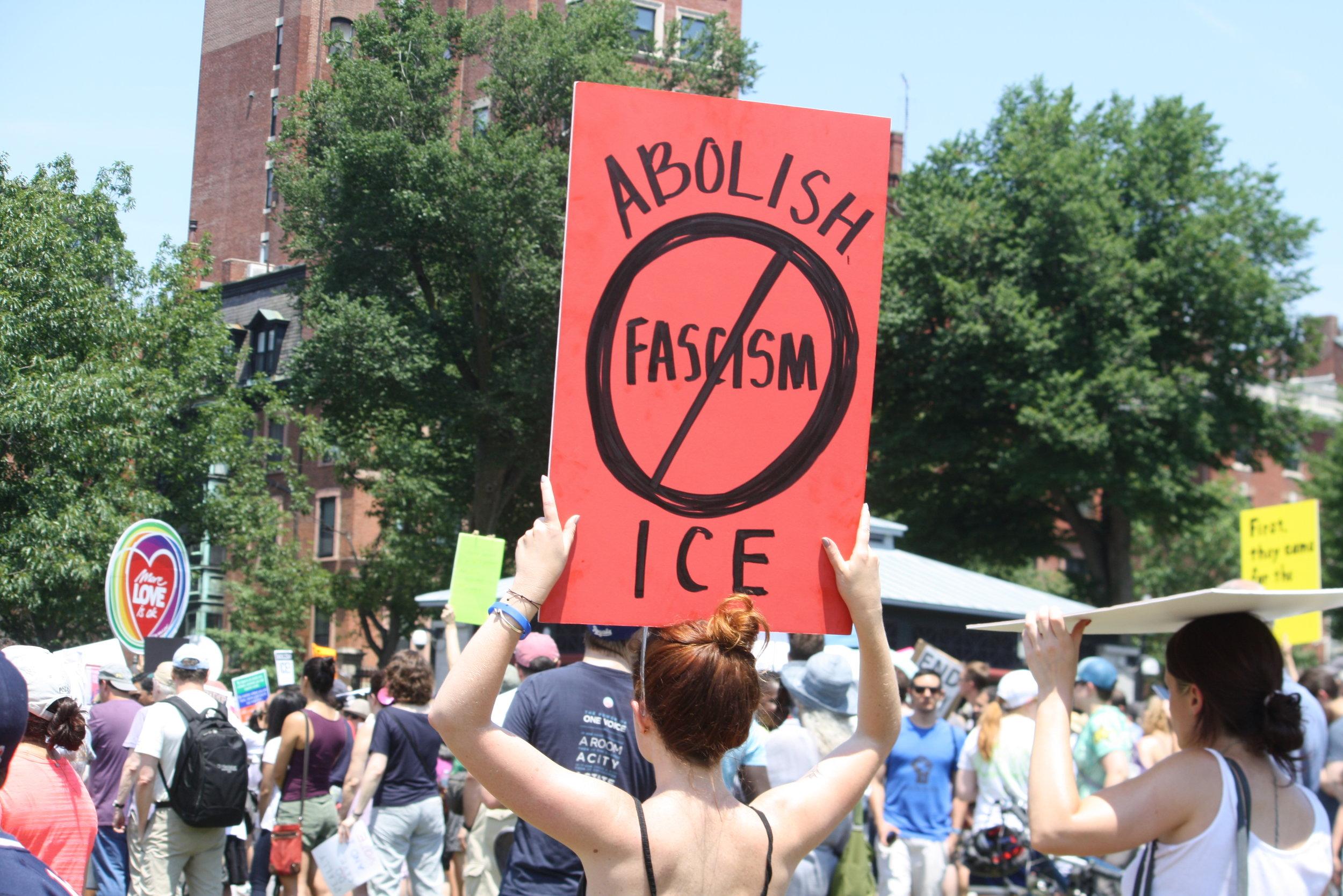 Abolish ICE - Boston, MA. 2018.