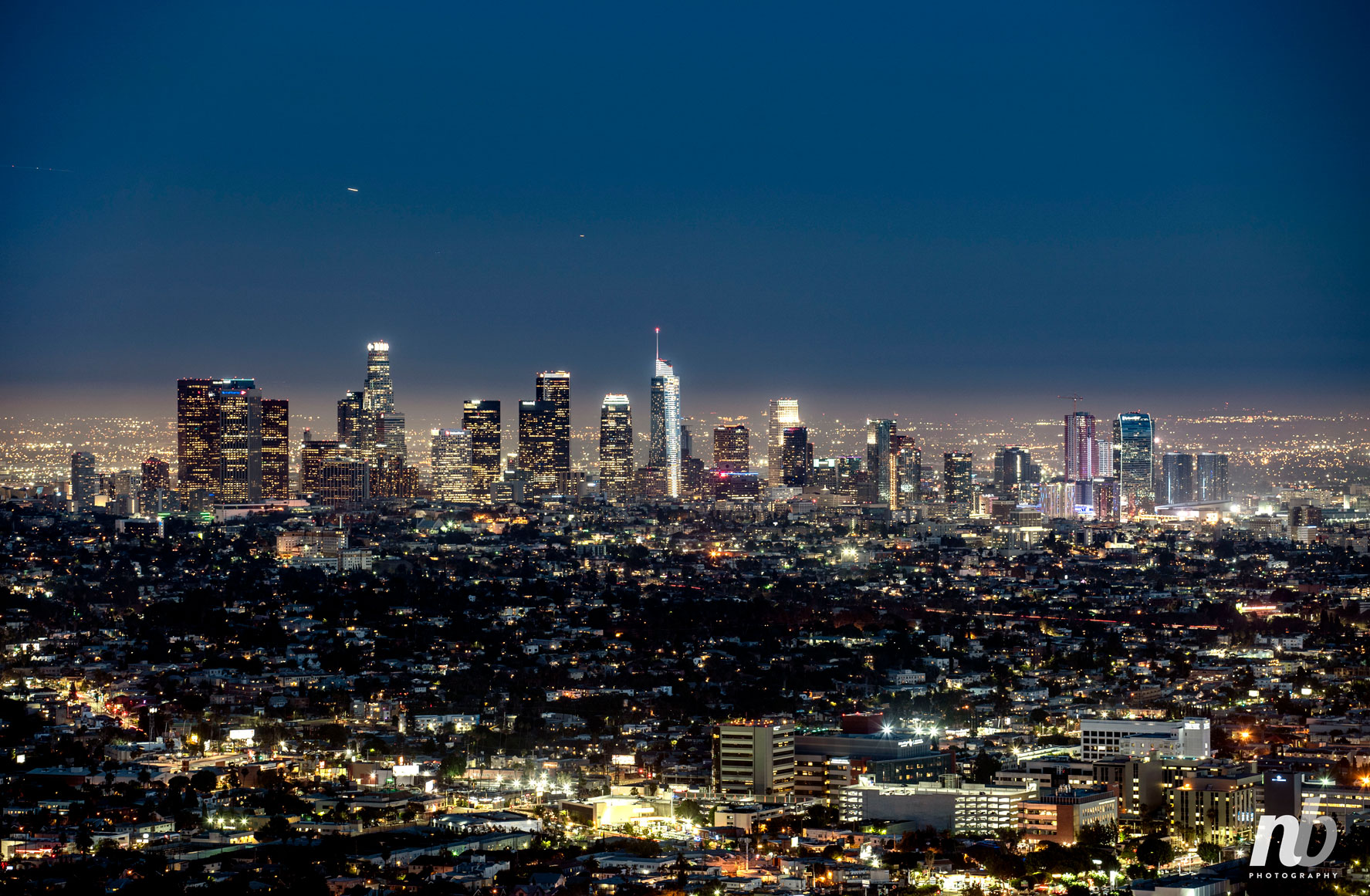 Photograph of Los Angeles Skyline.