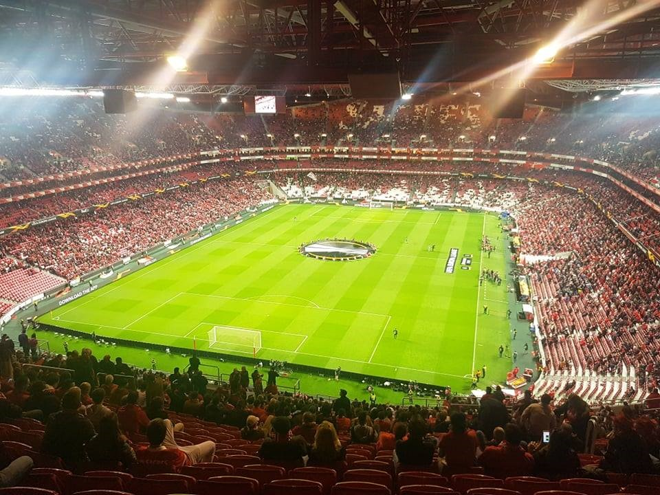 Pre-match at Benfica vs. Dinamo Zagreb, March 14, 2019.