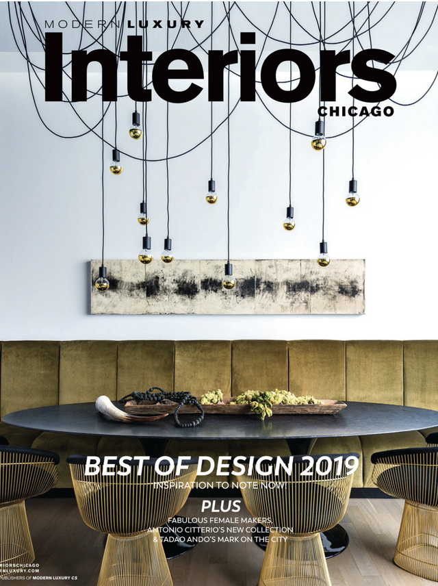 MODERN LUXURY INTERIORS CHICAGO - AWARDED BEST EAT-IN KITCHEN - FEBRUARY 2019