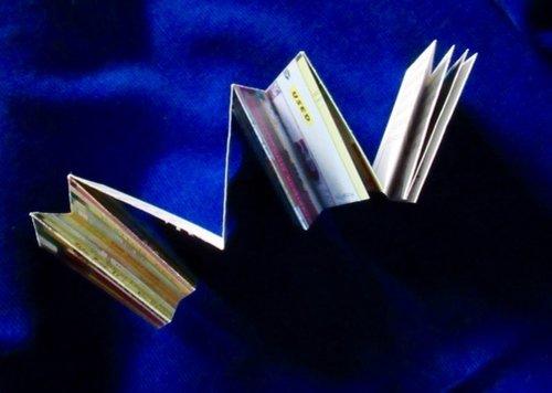 Portrait of Helen Hajnoczky  Poem by Helen Hajnoczky, photo of books by Julya Hajnoczky Made by Julya Hajnoczky Accordion fold, envelope enclosure, one poem, one photograph 2010