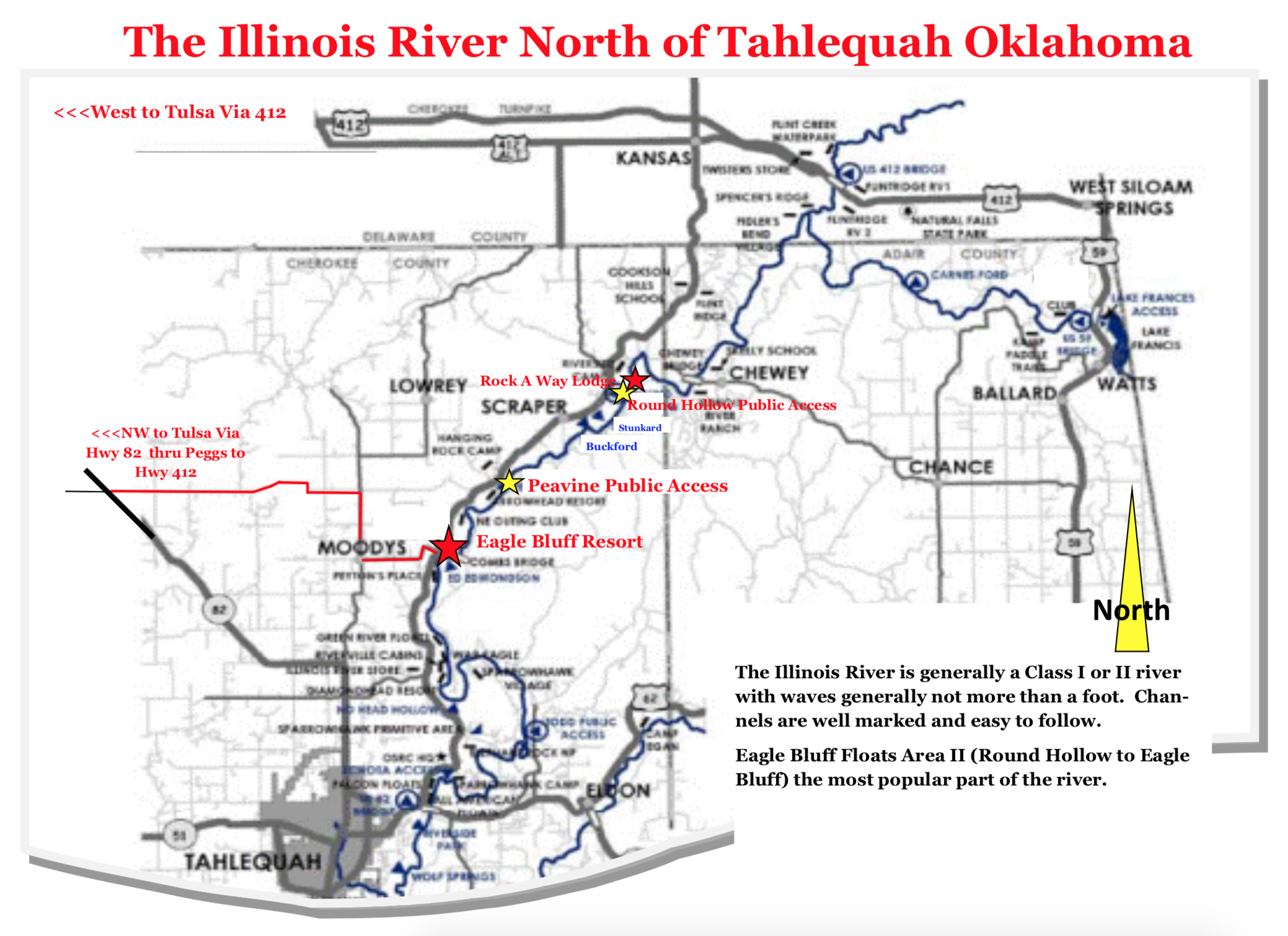 Eagle Bluff Resort Illinois River Map.png