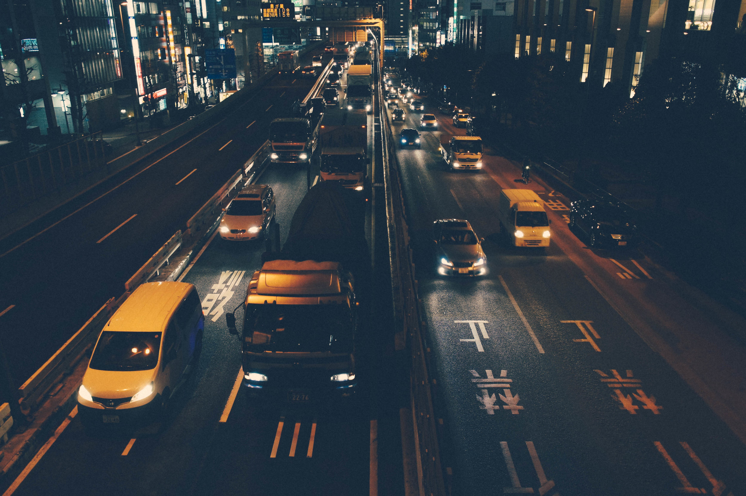 Run facing traffic - Lots of people think you should run with the traffic but the advantage to running against traffic at night is that it's easier to see an oncoming car with its headlights on. By running in the direction of traffic, you can move off the road quickly if a car swerves in your direction.