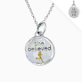 She Believed Token Necklace