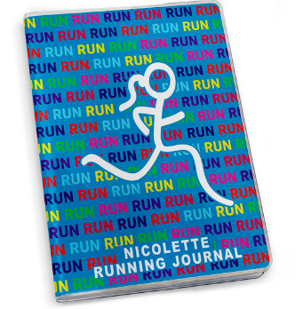 Running Journal - Run Run Run Stick Figure