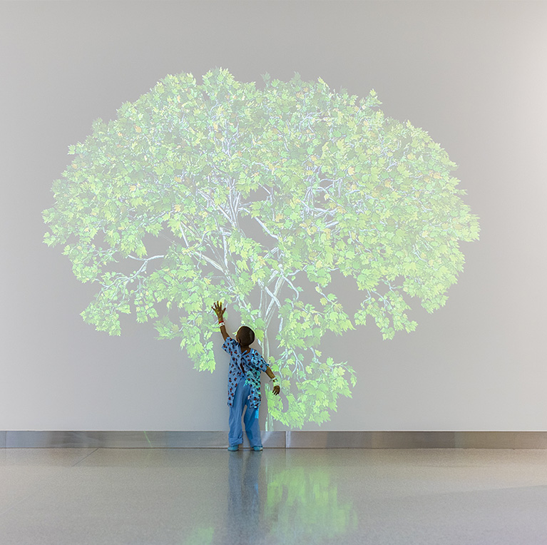 "Jennifer Steinkamp, ""Mike Kelley 1,"" at Cleveland Clinic Children's. Photo by Steve Travarca, Cleveland Clinic Center for Medical Art & Photography."