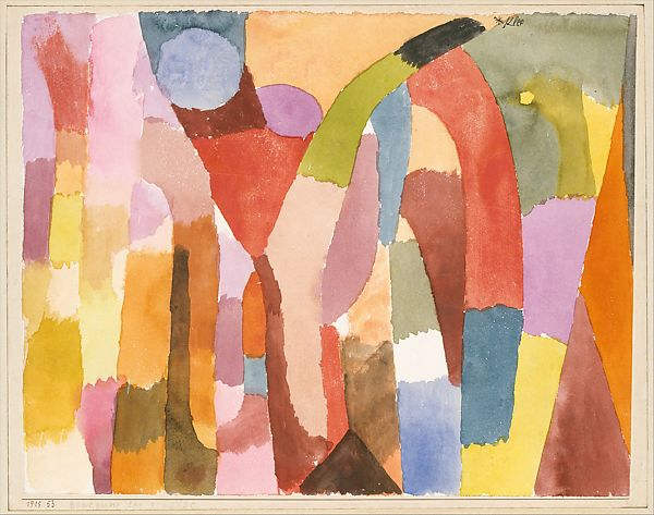 Movement of Vaulted Chambers, 1915, Paul Klee.