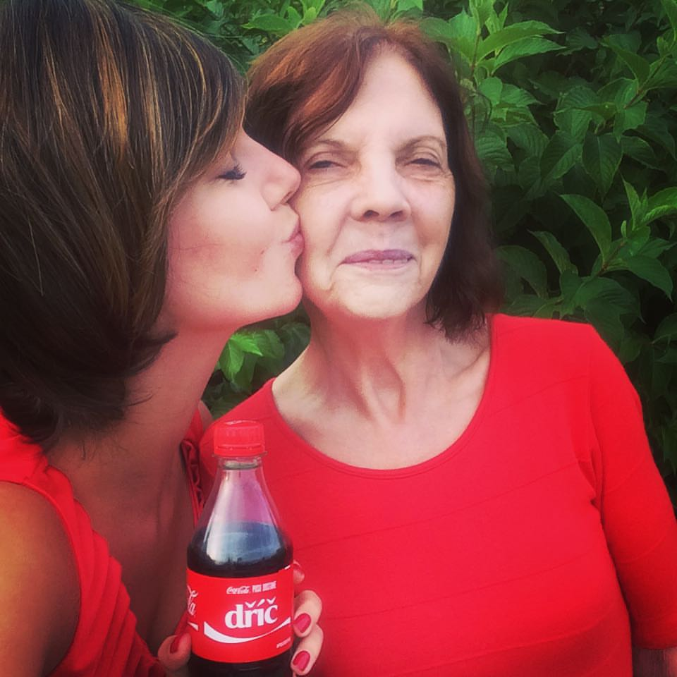 "That is my granny and me! And the Coke says ""a kiss for the hard worker"" :)"