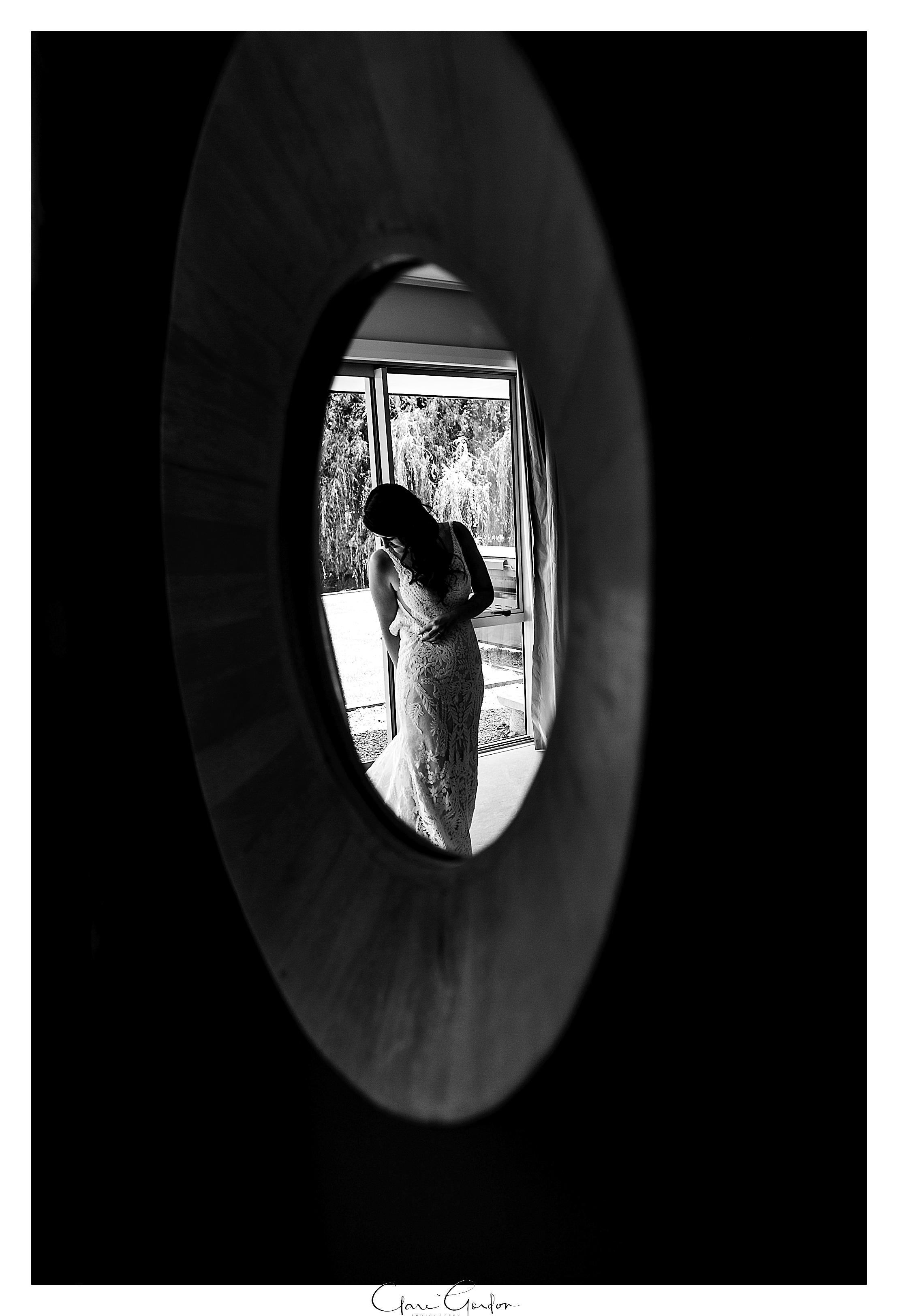 Bride-portrait-reflection-in-mirror