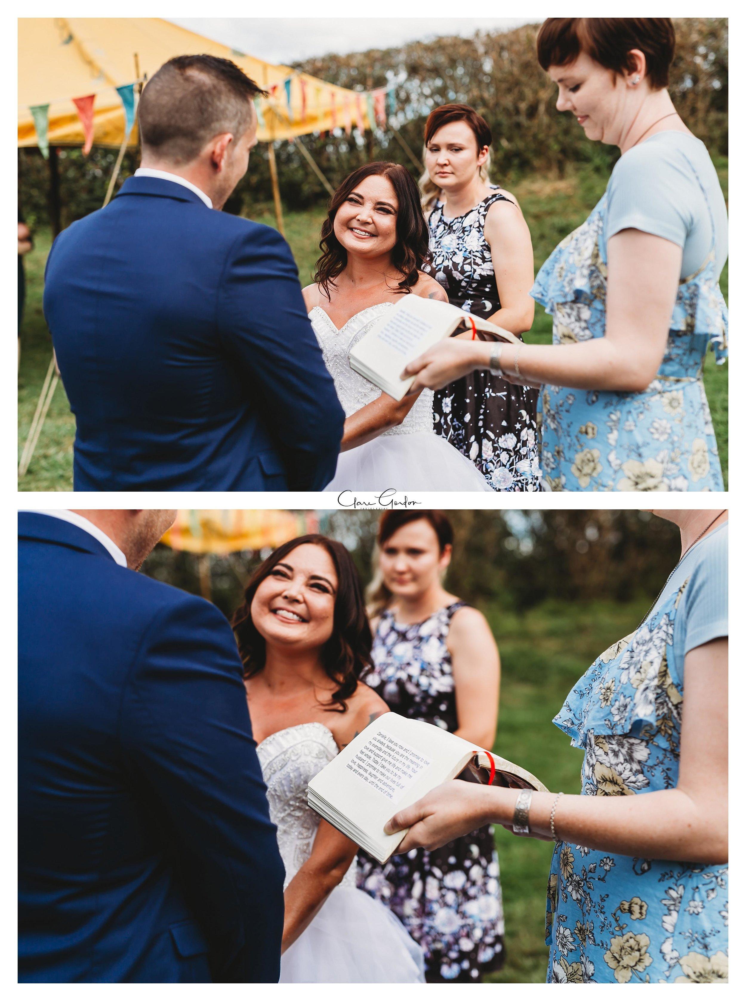 Hobbtion wedding-Ceremony-bride-and-groom-vows