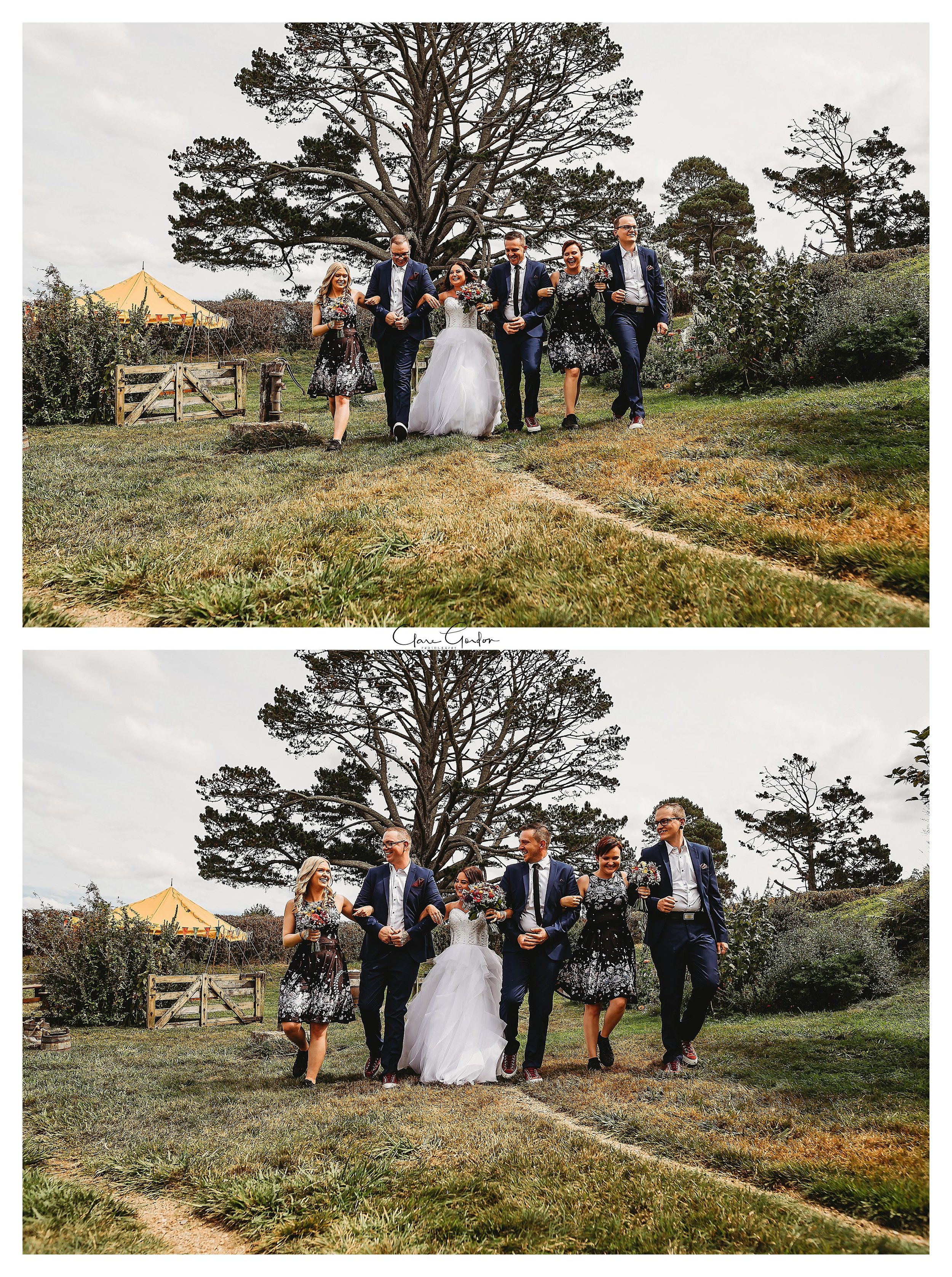 Hobbiton-bridal-party-wedding-photo