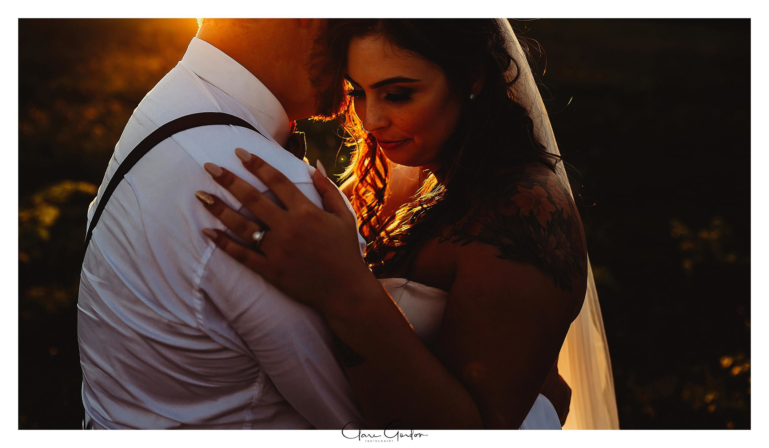 Bride-and-groom-photo-at-sunset-Coopers-function-rooms