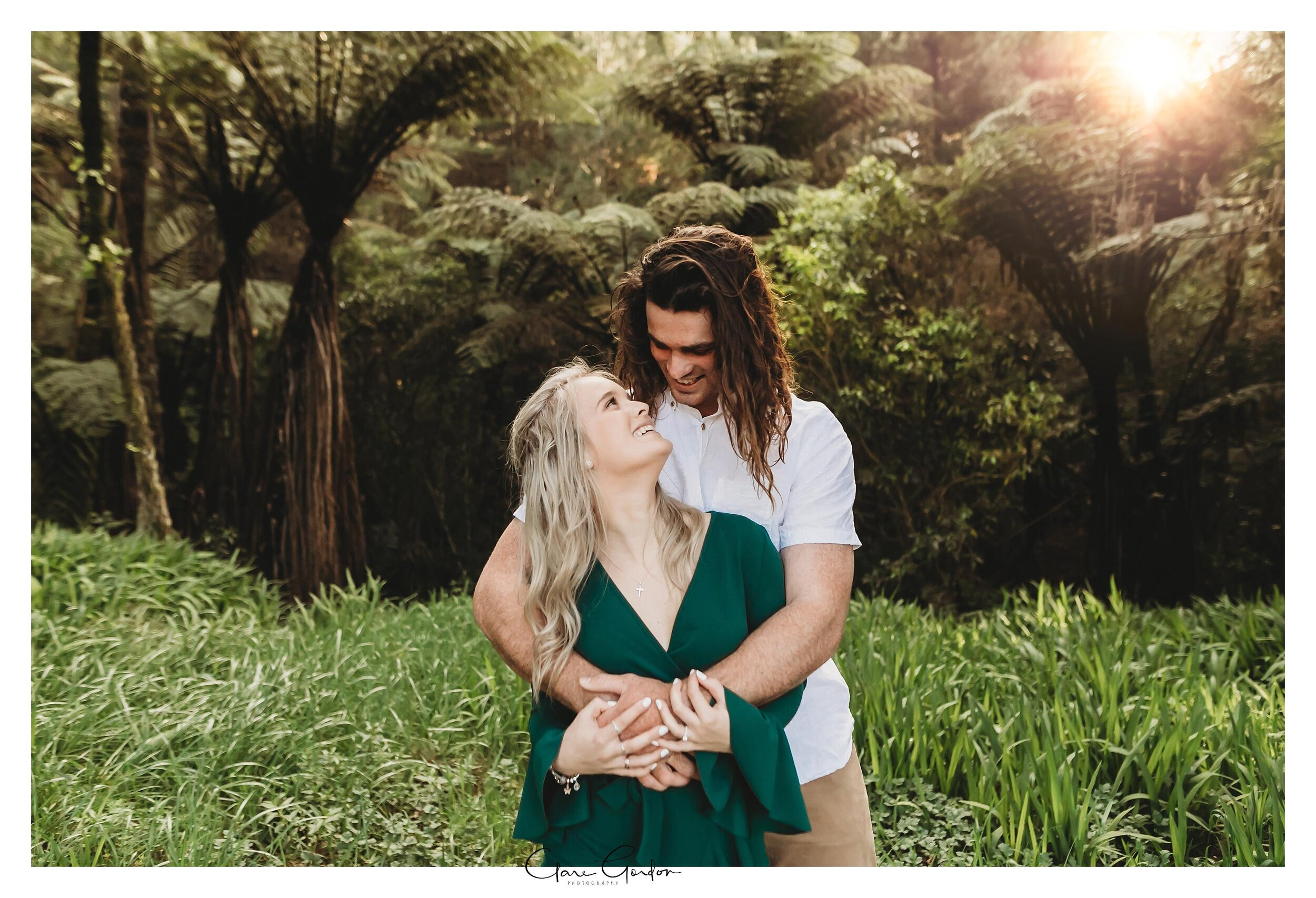 Waikato-engagement-photo-TeMiro-couple-hugging-in-forest-Newzealand-wedding-photographer (5).jpg