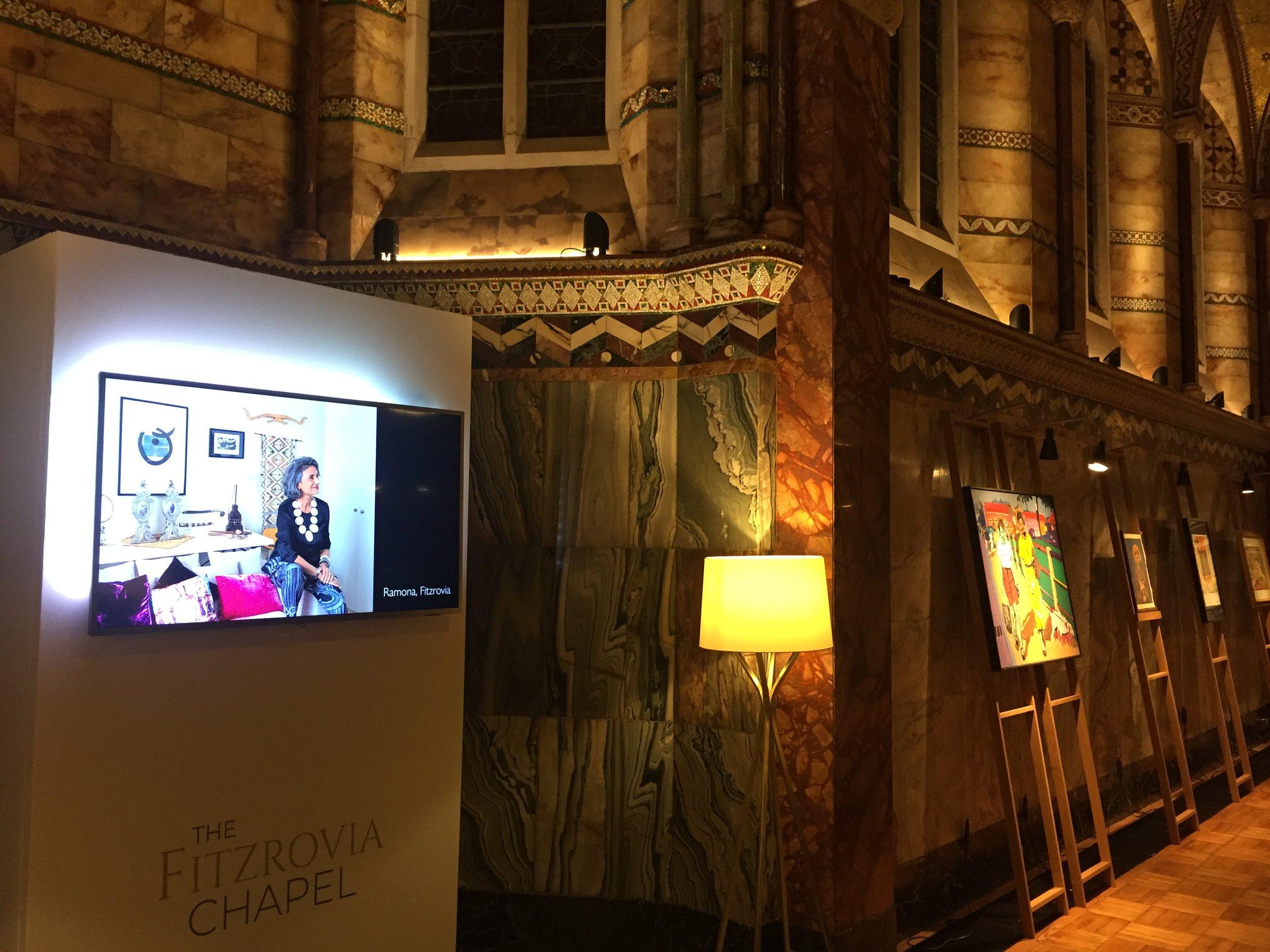Dwelling Exhibition at Fitzrovia Chapel, London W1 Nov2018
