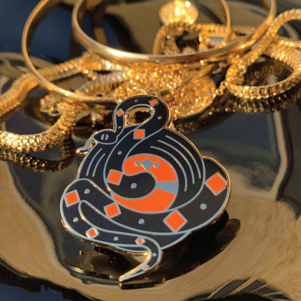 Diamond Serpent Pin  - $15.00