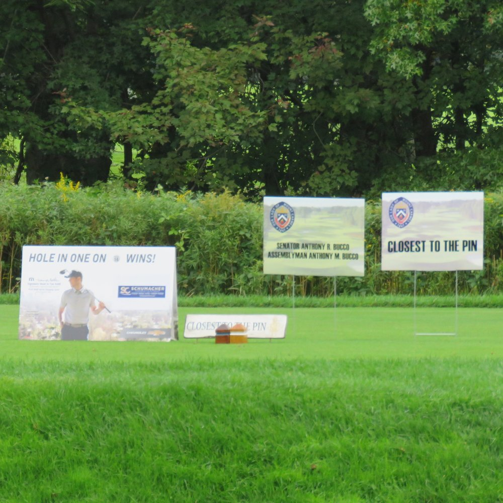 Become a Sponsor HERE - - Lunch, Dinner, or Bar Sponsorship- Corporate Foursome- Single Golfer- Hole Sponsor