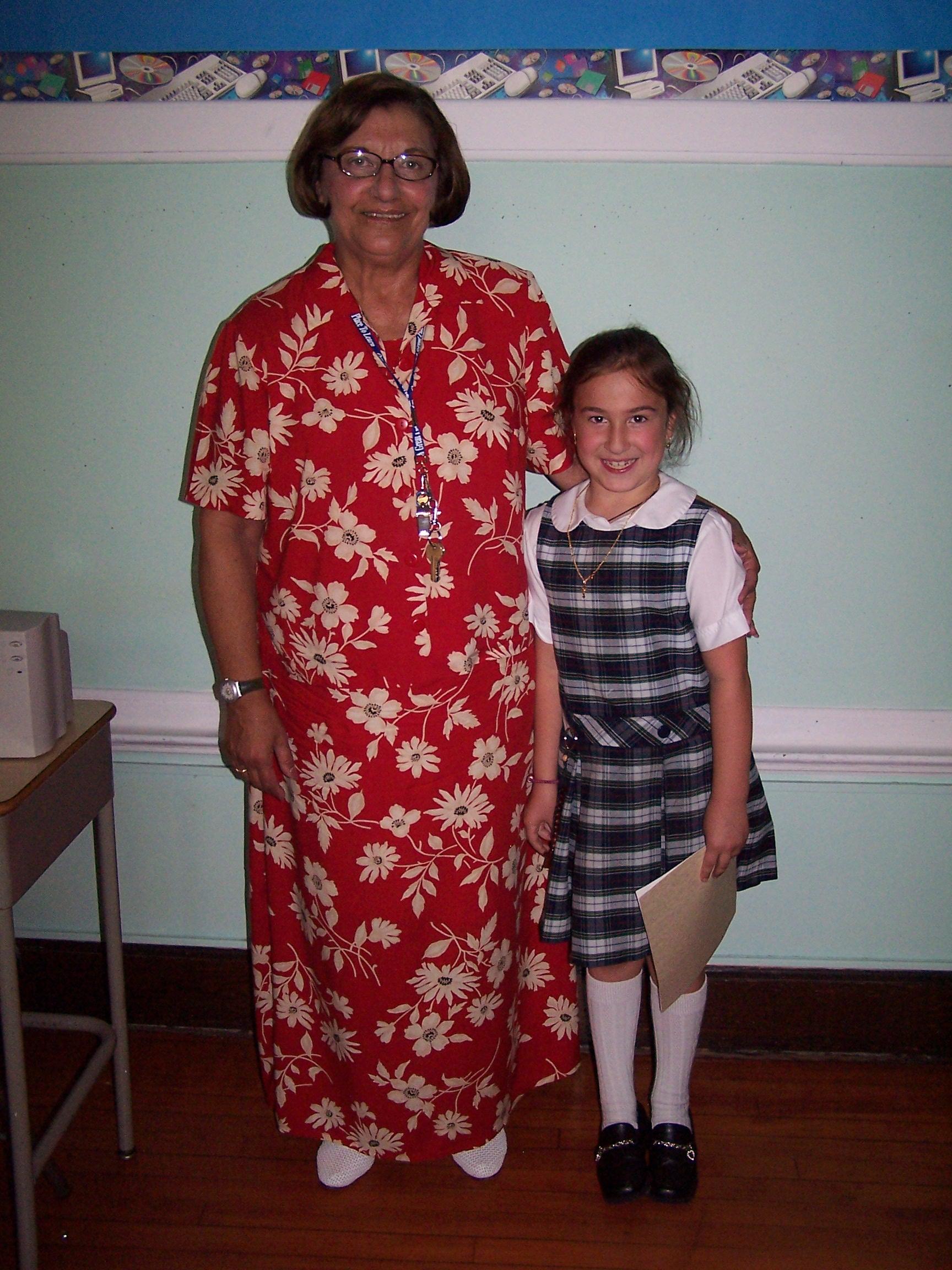 Miss Huresky as an OLMC second grader