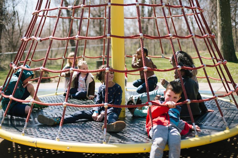 Kids playing, Photos from Play-A-Palooza, held on March 31, 2018, Photo credit: Rosie Simmons.