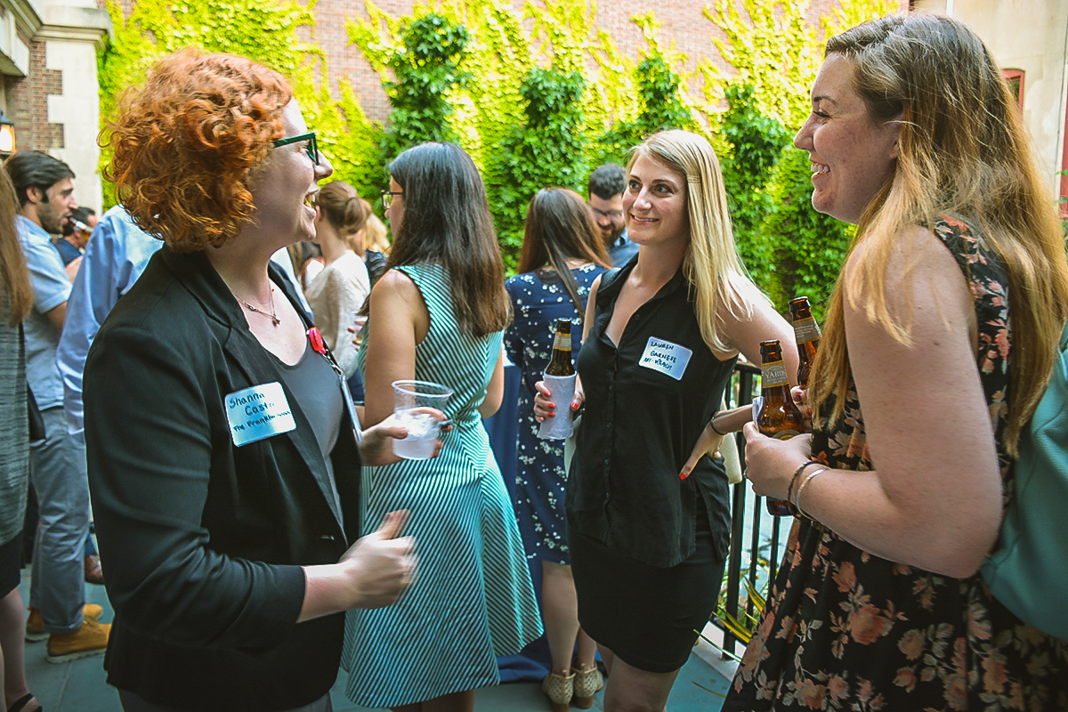 Attendees chat and mingle at last year's Annual Meeting and Celebration.