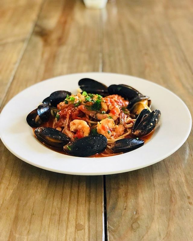 Come join us for dinner tonight! We are featuring Seafood Fra Diavolo!  #dinnerspecial #seafoodfradiavolo #eatlocal #supportlocal #downtownamelia