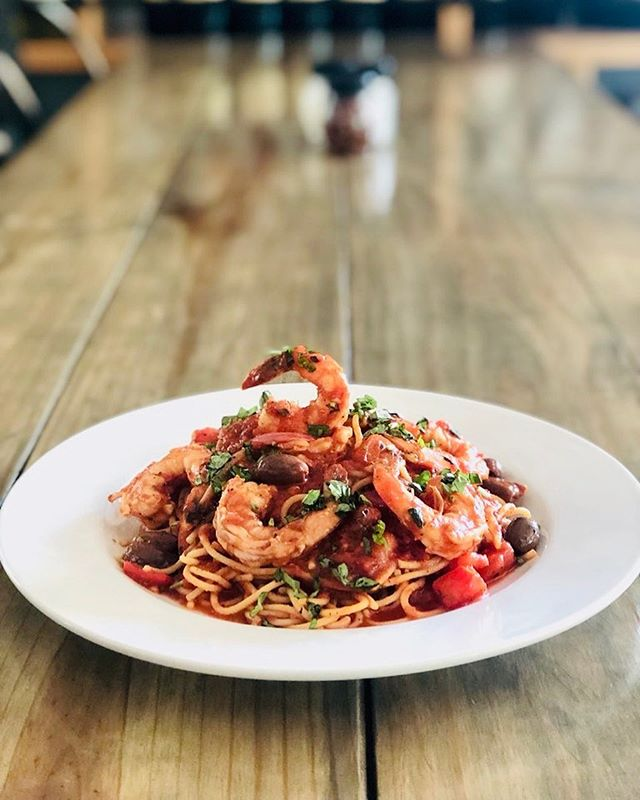 Monday's Dinner Special: Tonight we are featuring Shrimp Puttanesca! See you soon! 🍤  #shrimp #puttanesca #dinnerspecial #eatlocal #supportlocal #downtownamelia