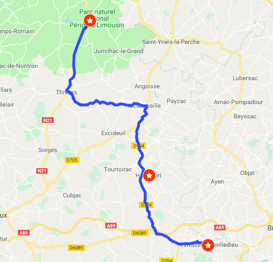 Itinerary #3 - Chateau and gardensChâteau de Hautfort, Terasson-Lavilledieu (Jardins de l'imaginaire)