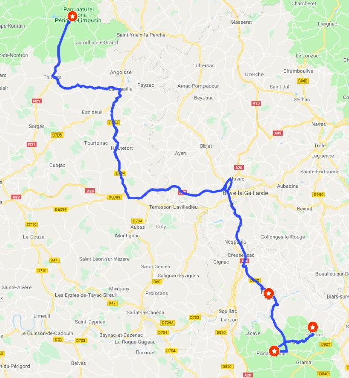 itinerary #4 - Spectacular journeysMartel, Gouffre de Padirac, Rocamadour