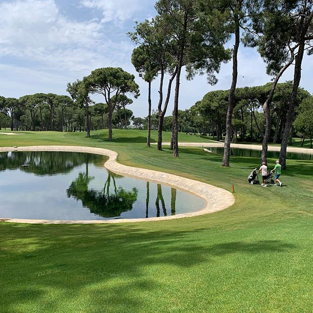 New features on back nine of Gloria New Championship course at Gloria Resort, Belek. Looks great. Must be several thousand balls in the two ponds