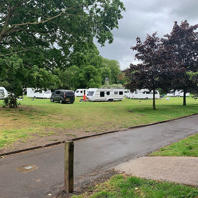 Travellers parked up for the weekend at Alderley Edge park. No one else gets to do that?