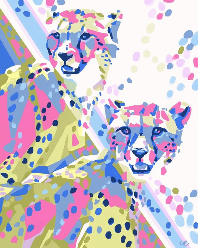 Cheetah Duo! Had fun with this one. Prints starting at only $22. Shop link in profile.