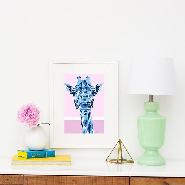 Always a giraffe in the mix. Framed prints are now available on my website. Thanks to @framebridge