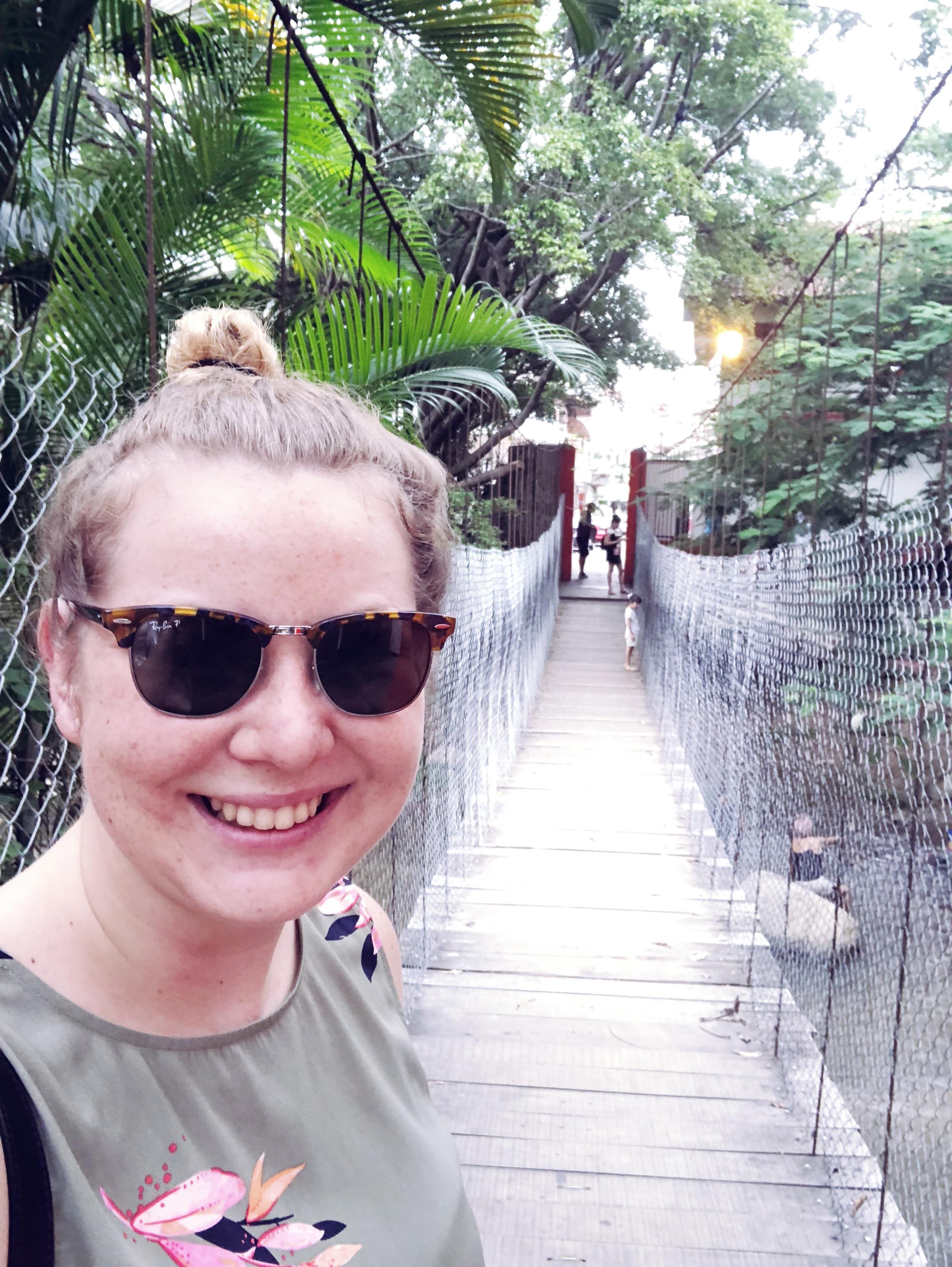 Crossed this suspension bridge in old town Puerto Vallarta.